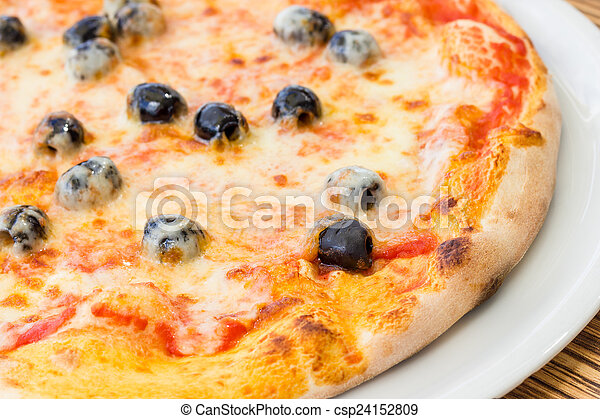 Pizza with olives - csp24152809