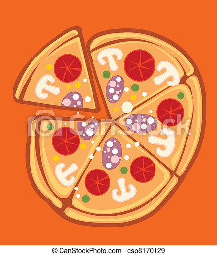 pizza with salami - csp8170129