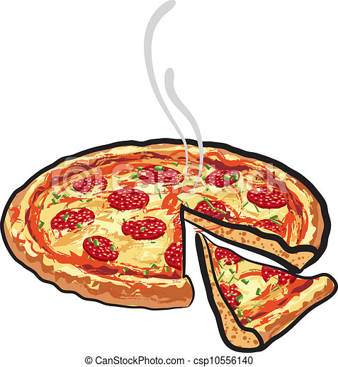 pizza with salami - csp10556140
