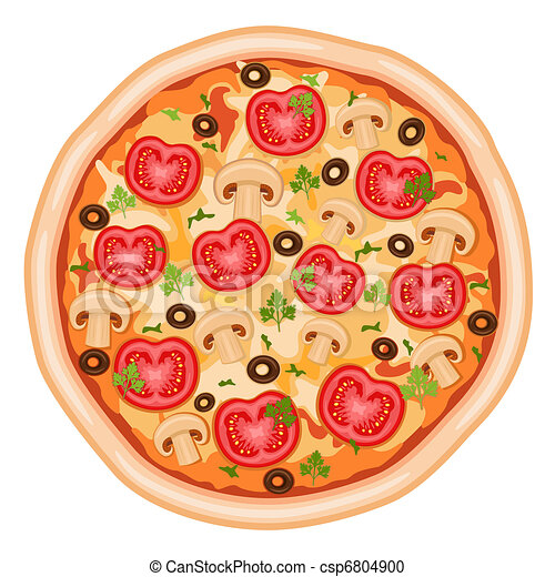 Pizza with tomatoes - csp6804900