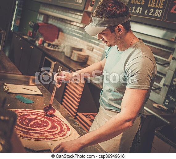 Pizzaiolo beau pizzeria confection pizza cuisine for Confection cuisine