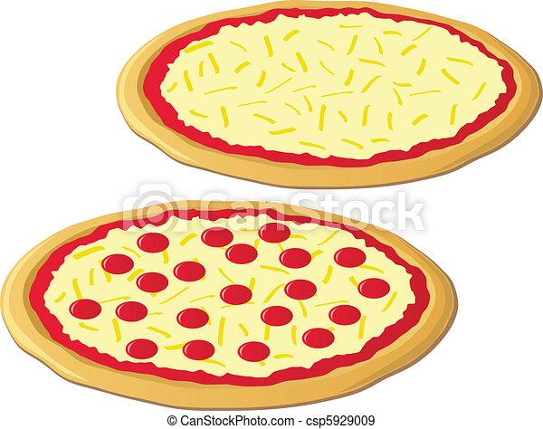 pizzor, två - csp5929009