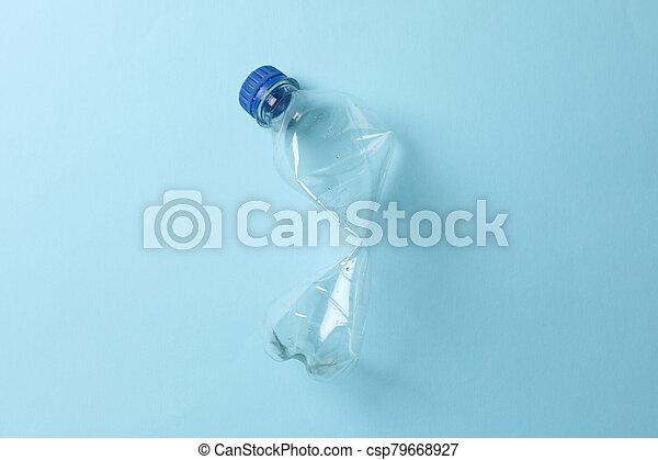 plástico, espacio, plano de fondo, texto, botella, azul, utilizado - csp79668927