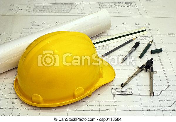 pläne, architektonisch - csp0118584