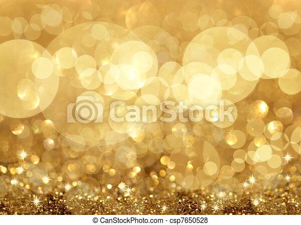 plíčky, vánoce, grafické pozadí, zlatý hřeb, twinkley - csp7650528