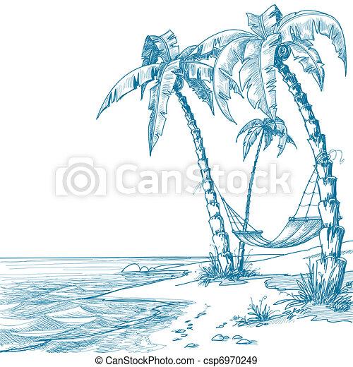 plaża, tropikalny - csp6970249
