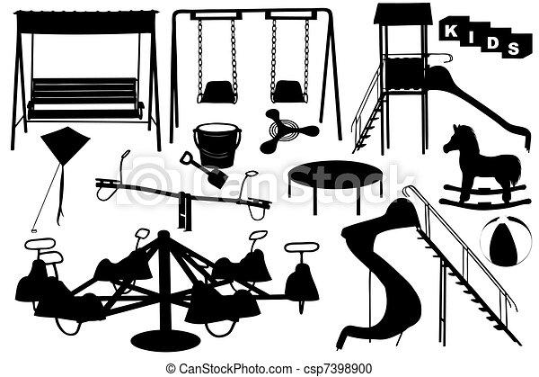 plac gier i zabaw, ilustracja - csp7398900