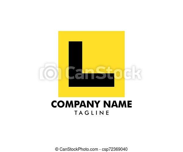Placa de piloto de aprendiz signo vector de icono plantilla de logo - csp72369040