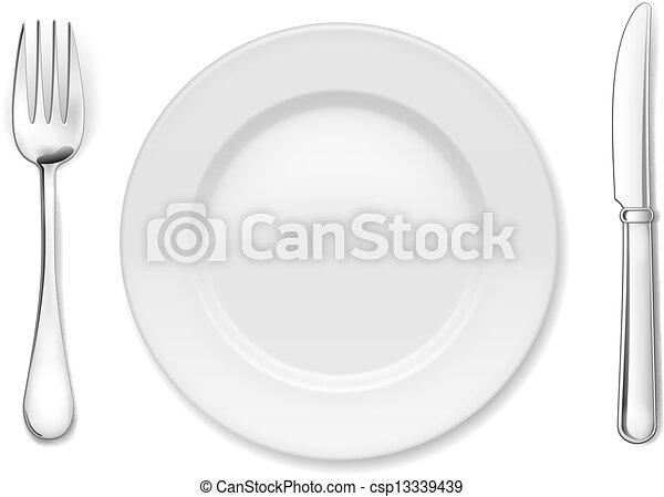Plata con cubiertos - csp13339439