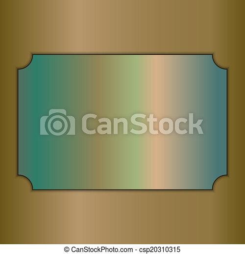 Vector abstraído matrícula de oro en antecedentes beige - csp20310315