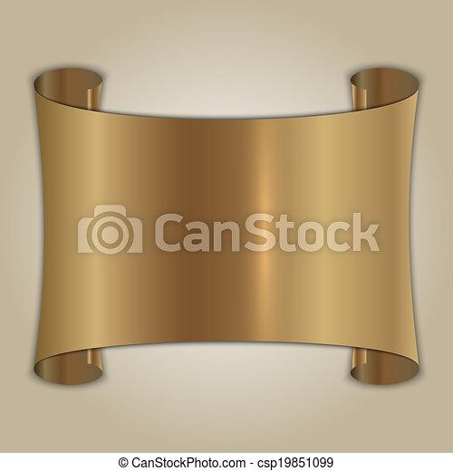 Vector abstraído matrícula de oro en antecedentes beige - csp19851099