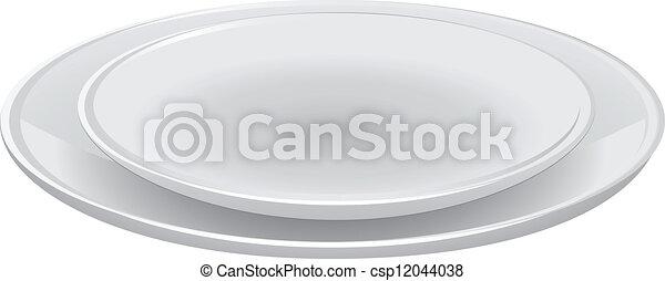 Un juego de platos - csp12044038