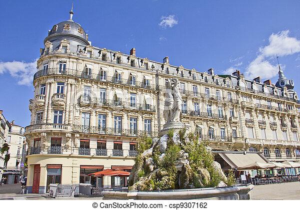 Place de la Comedie, Montpellier, France - csp9307162