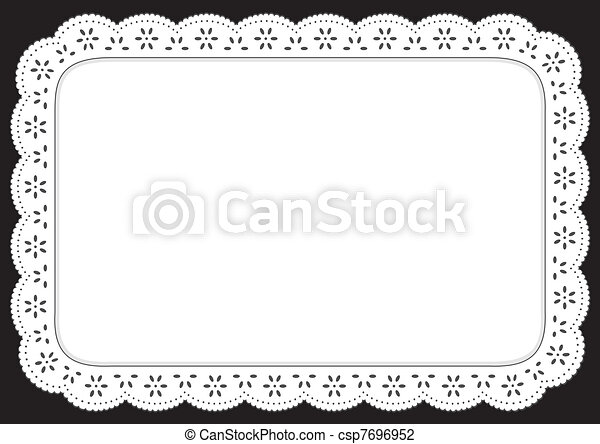 place mat white eyelet lace vintage eyelet lace doily vector rh canstockphoto com lace vector file lace vector free illustrator