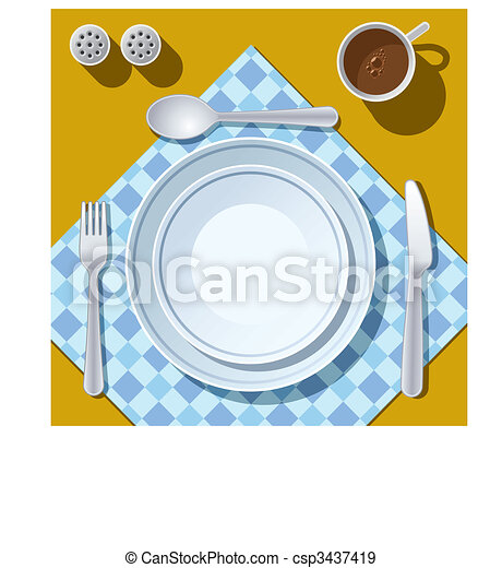 Place setting - csp3437419
