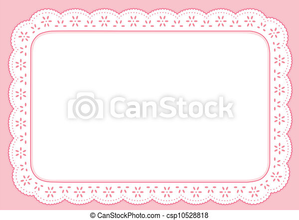 Placemat, Pastel Pink Eyelet Lace  - csp10528818