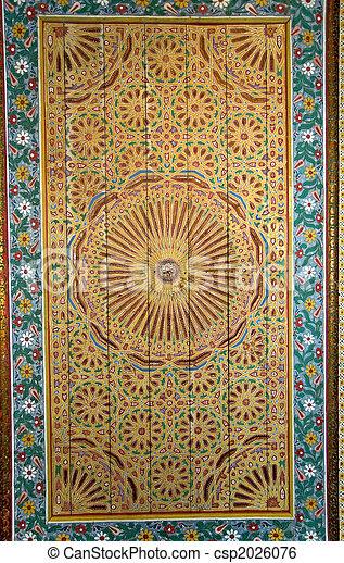 plafond marocain fond orn style vieux palais