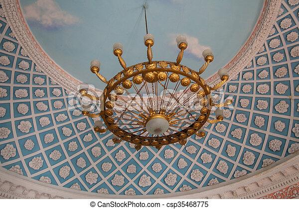 Plafond, Vieux, Moulure