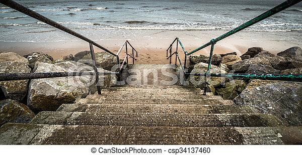 plage, étapes - csp34137460