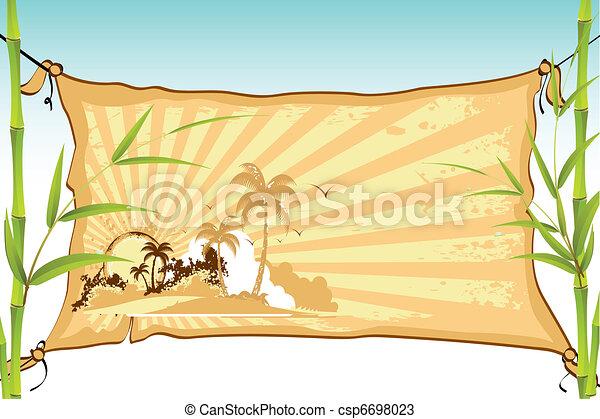 plage, bannière, mer - csp6698023
