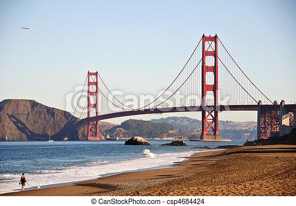 plage, boulanger, san, portail, doré, francisco - csp4684424