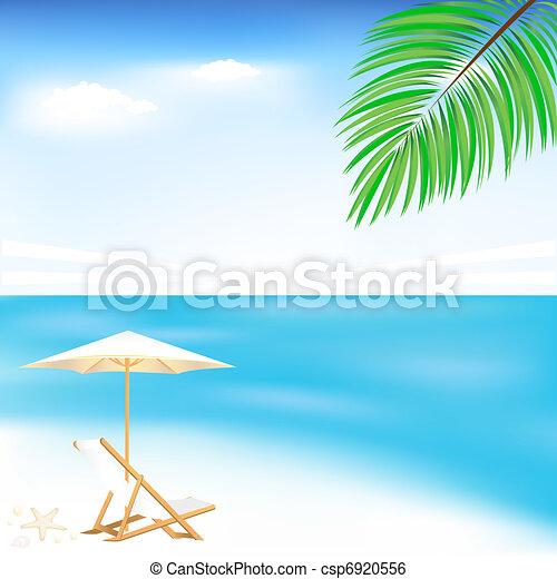 plage, mer - csp6920556