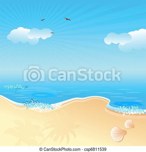 plage, mer - csp6811539