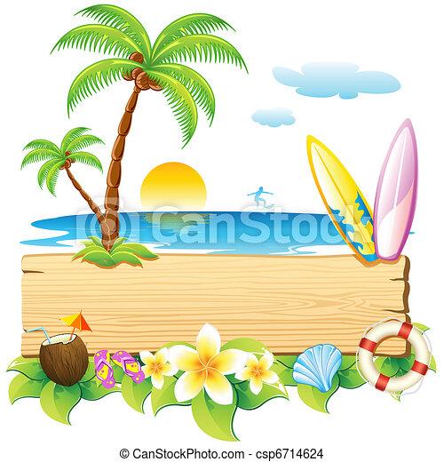 plage, mer - csp6714624