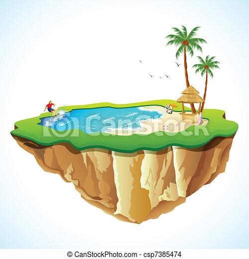 plage, mer - csp7385474