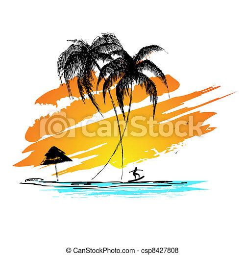 plage, mer - csp8427808