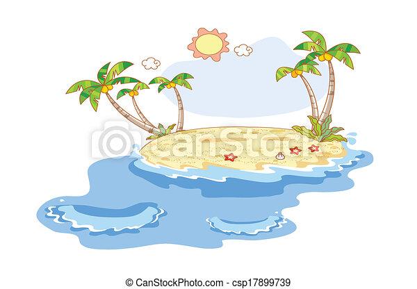 plage, paysage - csp17899739