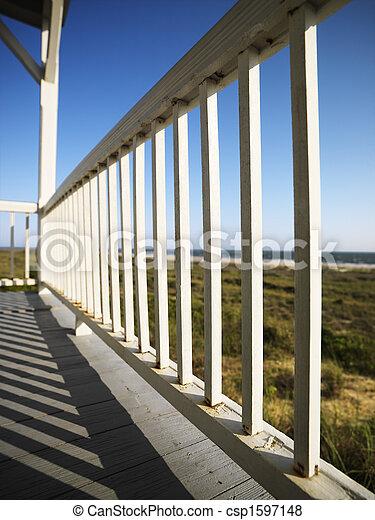 plage., porche - csp1597148