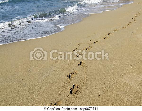 plage, promenade - csp0672711