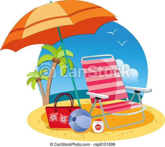 plage, relâcher - csp6151699