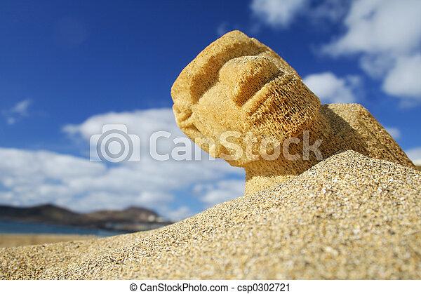 plage, sculpture - csp0302721