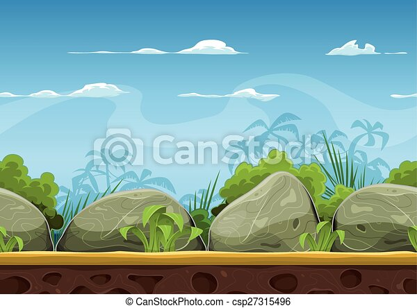 Plage Tropicale Seamless Paysage