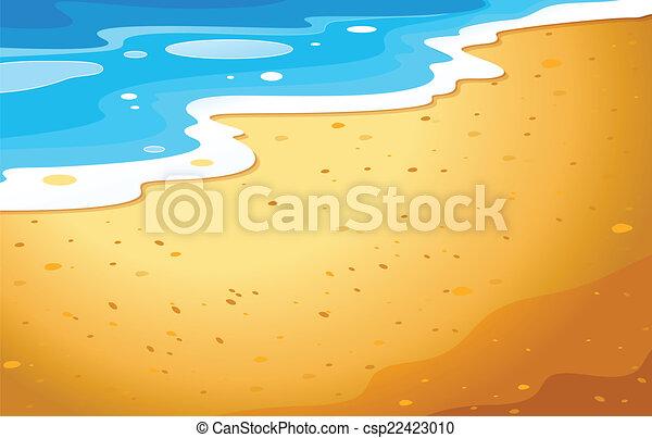 plage, vue - csp22423010