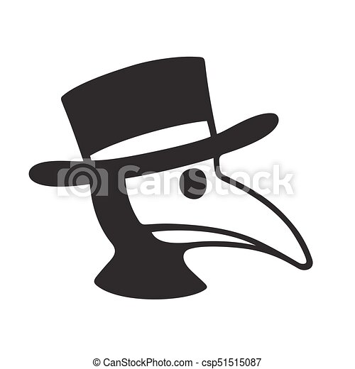 Plague Doctor Illustration Plague Doctor Head Profile Icon Or Logo Simple Black And White Vector Illustration Of Character
