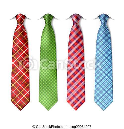 Plaid, checkered silk ties - csp22064207