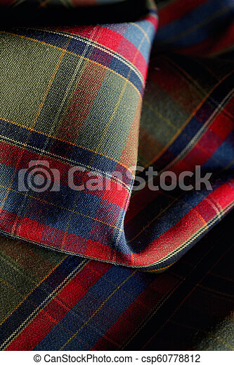 Plaid Fabric Patern Background - csp60778812