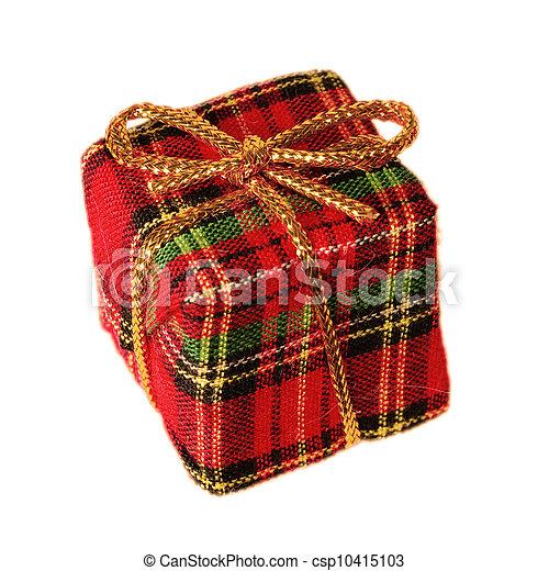 Plaid gift box - csp10415103