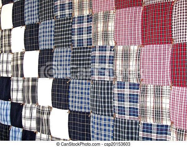 plaid patchwork quilt - csp20153603