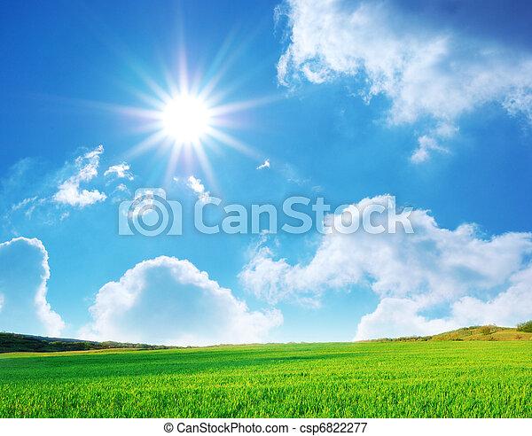 Plain and deep blue sky - csp6822277
