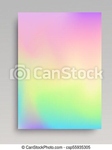Plain iridescent vertical gradint backdrop - csp55935305
