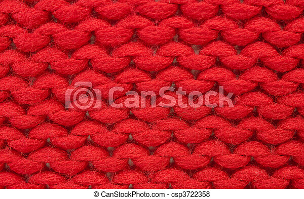 Plain Knitting Sample Of Plain Knitting Stitch Red Acrylic Wool