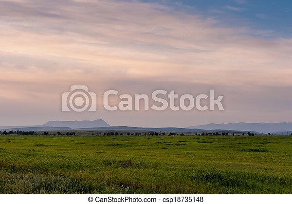 Plain landscape - csp18735148