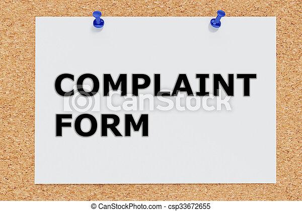 plainte, concept, formulaire - csp33672655