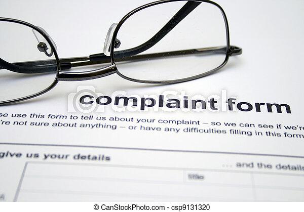 plainte, formulaire - csp9131320