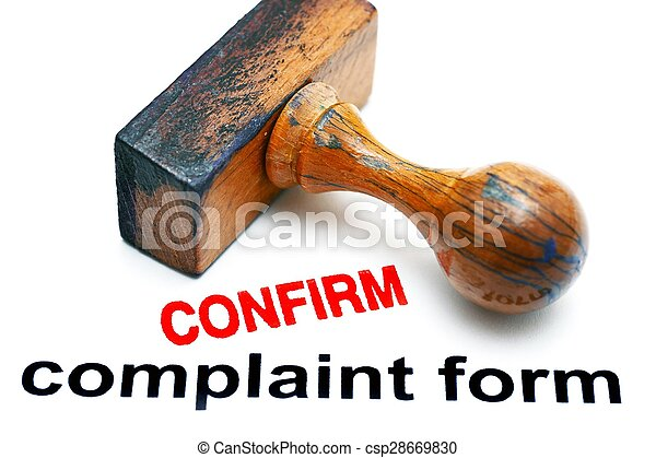 plainte, formulaire, confirmer - csp28669830