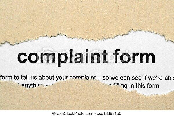 plainte, formulaire - csp13393150